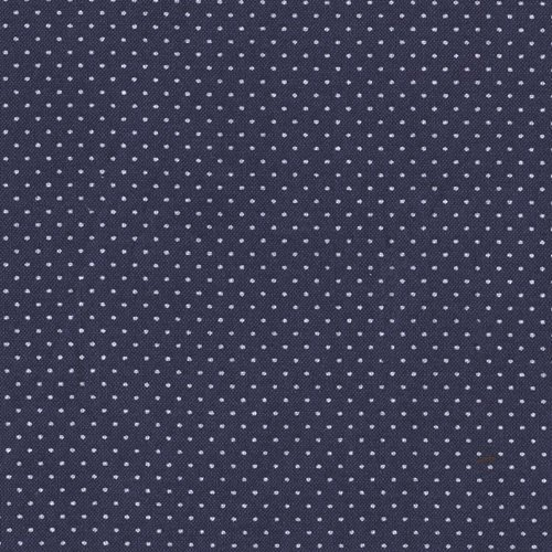 Santee Print Works BJ-521 Pin Dot Navy Blue Fabric by The Yard, N