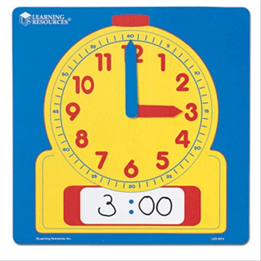 """B000F8T9BS Learning Resources Write & Wipe Demonstration Clock, Easy-to-Read, 12"""" Square Clock, Ages 6+ 6164ZzrZ89L"""