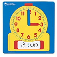 "Learning Resources Write & Wipe Demonstration Clock, Easy-to-Read, 12"" Square Clock, Ages 6+"