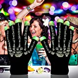Light up Gloves, LED Rave Gloves Glow Finger Light