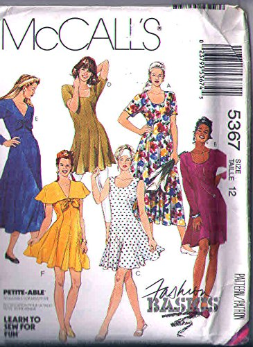 (Mccalls 5367 Misses 12 Sewing Pattern for Princess Seamed Dress in 3-lengths with Stretch Knit Leggings)