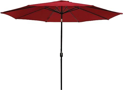DOIFUN 11ft Patio Umbrella Aluminum Outdoor Umbrella Market Table Umbrella