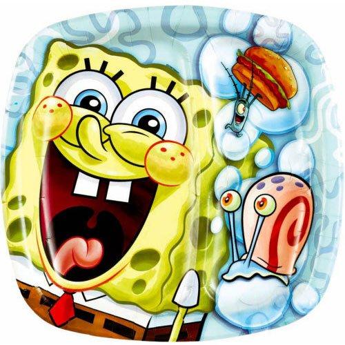 Spongebob Classic Pocket 9 Inch Dinner Plate - 8/Pkg.