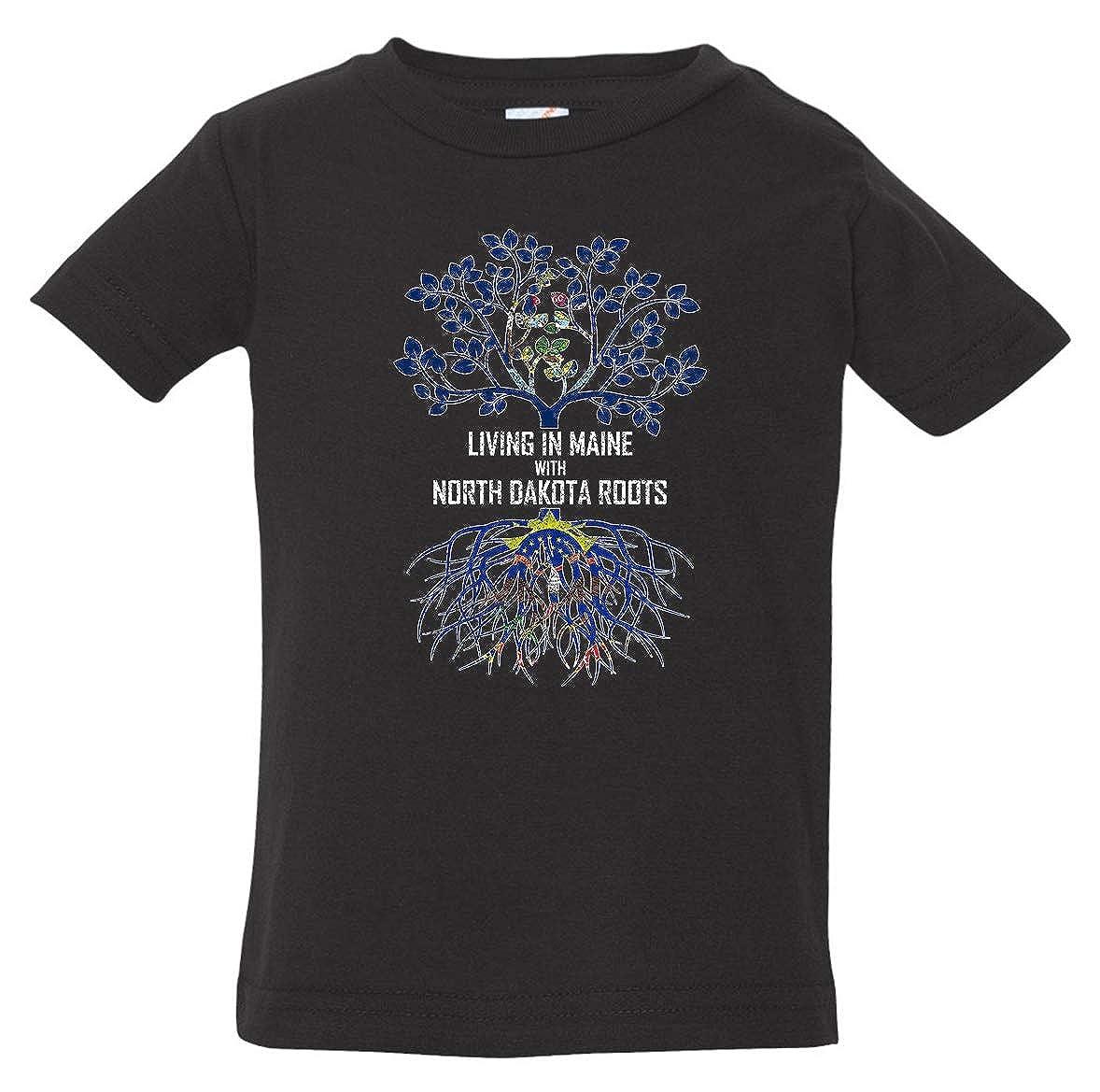 Tenacitee Babys Living in Maine North Dakota Roots Shirt