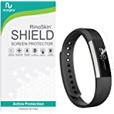[7-PACK] RinoGear for Fitbit Alta Screen Protector [Active Protection] Flexible HD Invisible Clear Shield Anti-Bubble