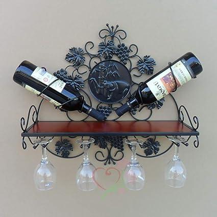 SSHHJ Soporte de Vidrio para Vino Soporte de Vino Pared ...