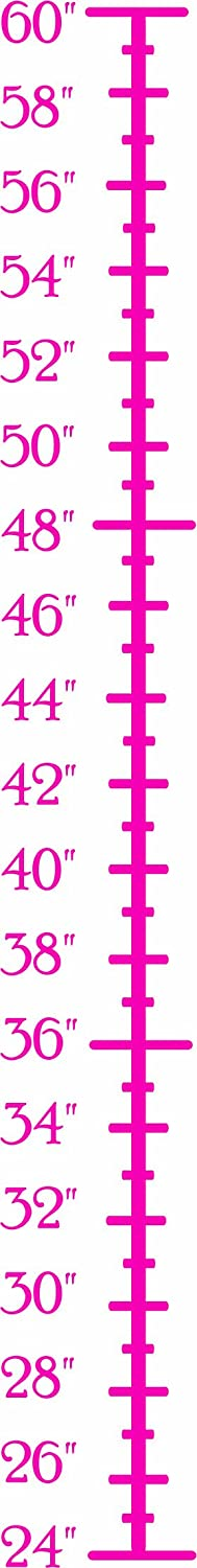 Design with Vinyl Design 151 Hot Pink Growth Chart Vinyl Wall Decal 6 Inch By 36 Inch Hot Pink