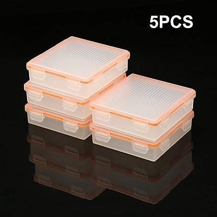 fghdf 5 Unids Fit Soshine 4 Celdas 18650 Batería Estuche de Almacenamiento Impermeable 18650 Caja Transparente del Soporte de la Batería Estuche Protector de Plástico Duro: Amazon.es: Electrónica