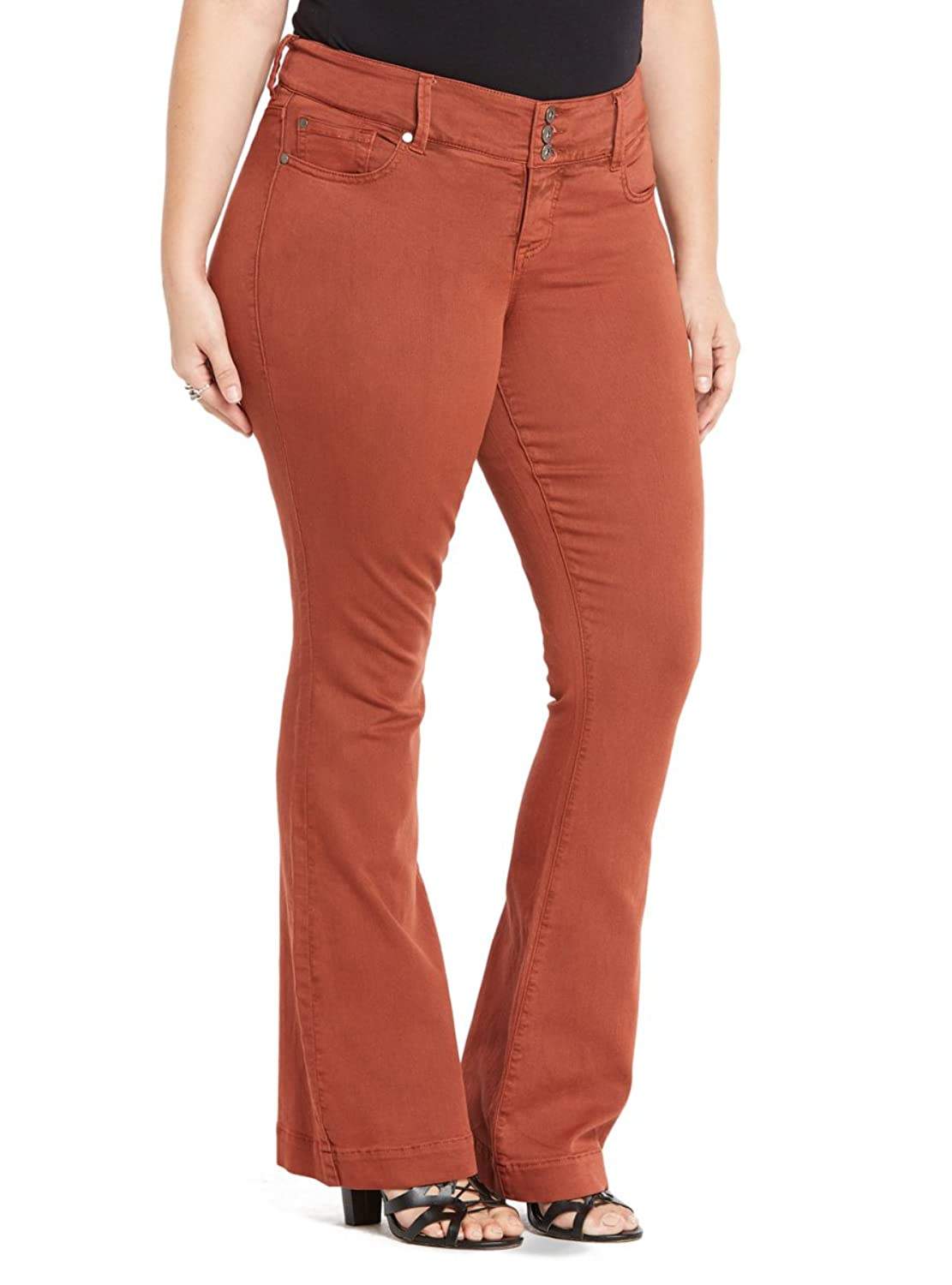 5f5bf0a1eaf07 outlet Torrid Three-Button Flared Jeans - Rust Wash - westexmetal.com