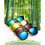 Long Keeper Bamboo Wood Arms Sunglasses for Women Men 5 Total Revolution Design-100% real Wood arms that support a plastic frame with unique stainless-steel, double-spring hinges are sturdy and designed to keep their shape perfect High Quality Lens -Helps to block harmful UVA and UVB rays--certified UV400 protection.Flexible spring hinges for comfort & durability help prevent slippage during physical activity. Lightweight-Only 29g, The lightweight Quality Wood offers a comfortable fit that is durable and sturdy at the same time.