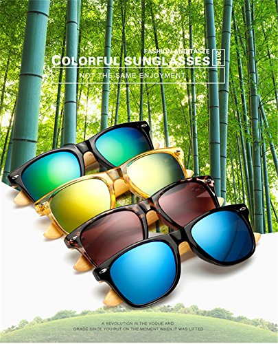 Long Keeper Bamboo Wood Arms Sunglasses for Women Men 2 Total Revolution Design-100% real Wood arms that support a plastic frame with unique stainless-steel, double-spring hinges are sturdy and designed to keep their shape perfect High Quality Lens -Helps to block harmful UVA and UVB rays--certified UV400 protection.Flexible spring hinges for comfort & durability help prevent slippage during physical activity. Lightweight-Only 29g, The lightweight Quality Wood offers a comfortable fit that is durable and sturdy at the same time.