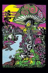 """Trends International Mushroom Black Light Poster 23"""" X 35"""""""
