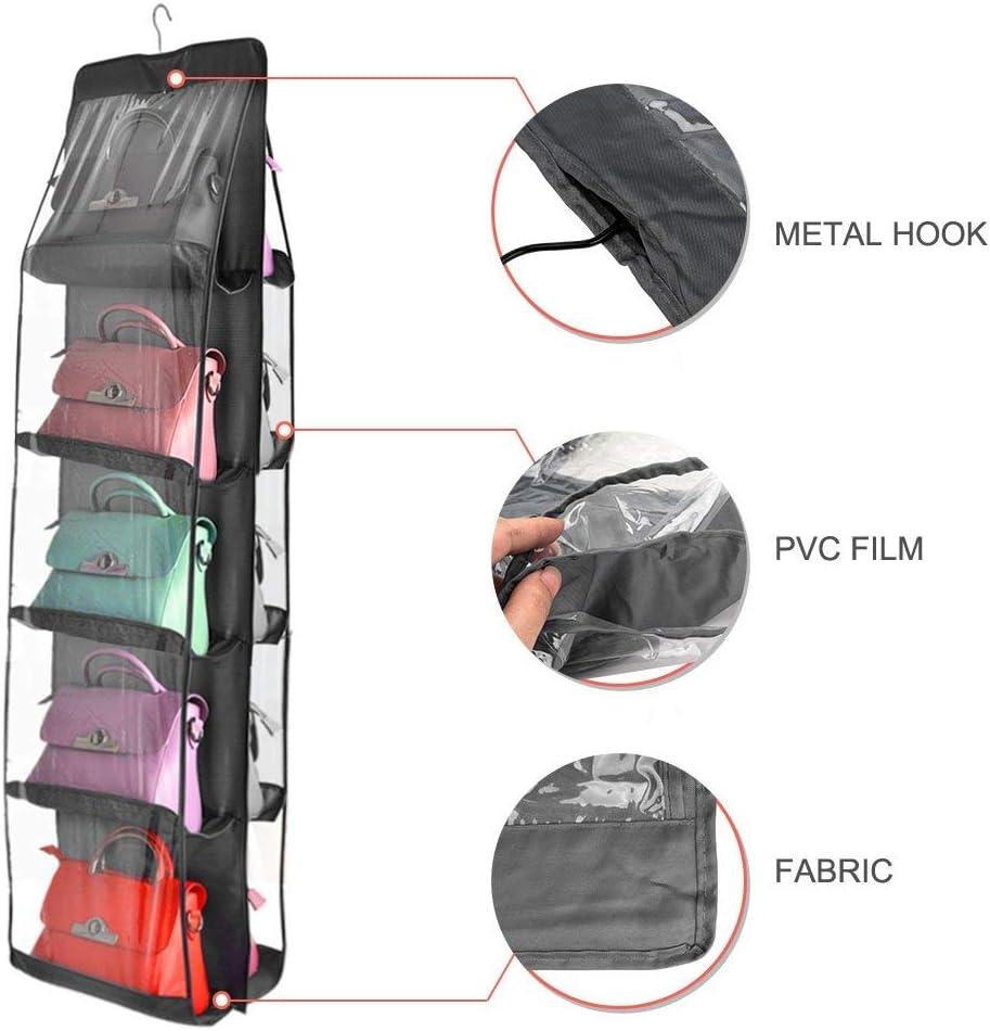 Sac de rangement anti-poussi/ère Sac /à main Sac de rangement pour sac /à main Jouets Chaussures V/êtements Sac /à main Sac /à main Sac /à main Sac de rangement /à suspendre Gris