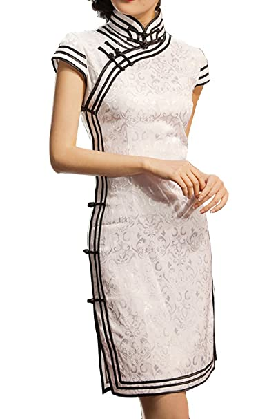 eaffb9cefb Chinese Cheongsam Qipao Gown - Vintage Cocktail Dress Asian Fashion Chic   101