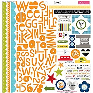 Bella Blvd Max Cardstock Stickers, 12 by 12-Inch, Treasures and Text