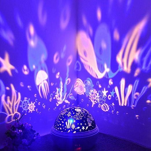 ☻XK Proyector Giratorio de Estrella/océano más Nuevo Luz Nocturna ...