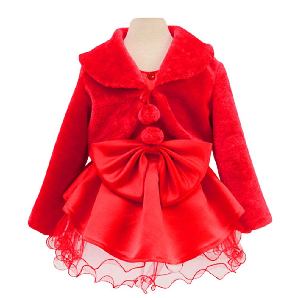 Tortor 1Bacha Kid Faux Fur Long Sleeve Wedding Flower Girl Shawl Wrap Cape XHYS003