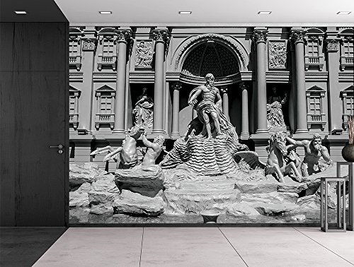 Trevi fountain (Fontana di Trevi) in Rome Famous Sculpture setting Italian architecture Wall Mural
