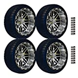 E-Z-GO 215/35-14 Backlash Tire with Machined Megastar Wheel