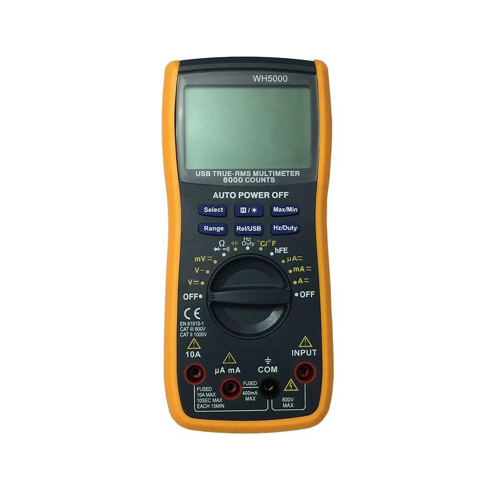 OLSUS WH5000 LCD Handheld Digital Multimeter, Using for Home and Car - Black + Yellow
