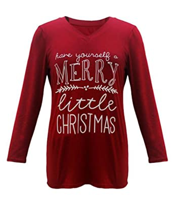 amazoncom womens have yourself a merry little christmas holiday long sleeve t shirt tops clothing