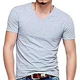 Timber Home(ティンバーホーム) 無地 tシャツ メンズ 半袖 タイト 綿 ボディーフィット ワイルド カットソー