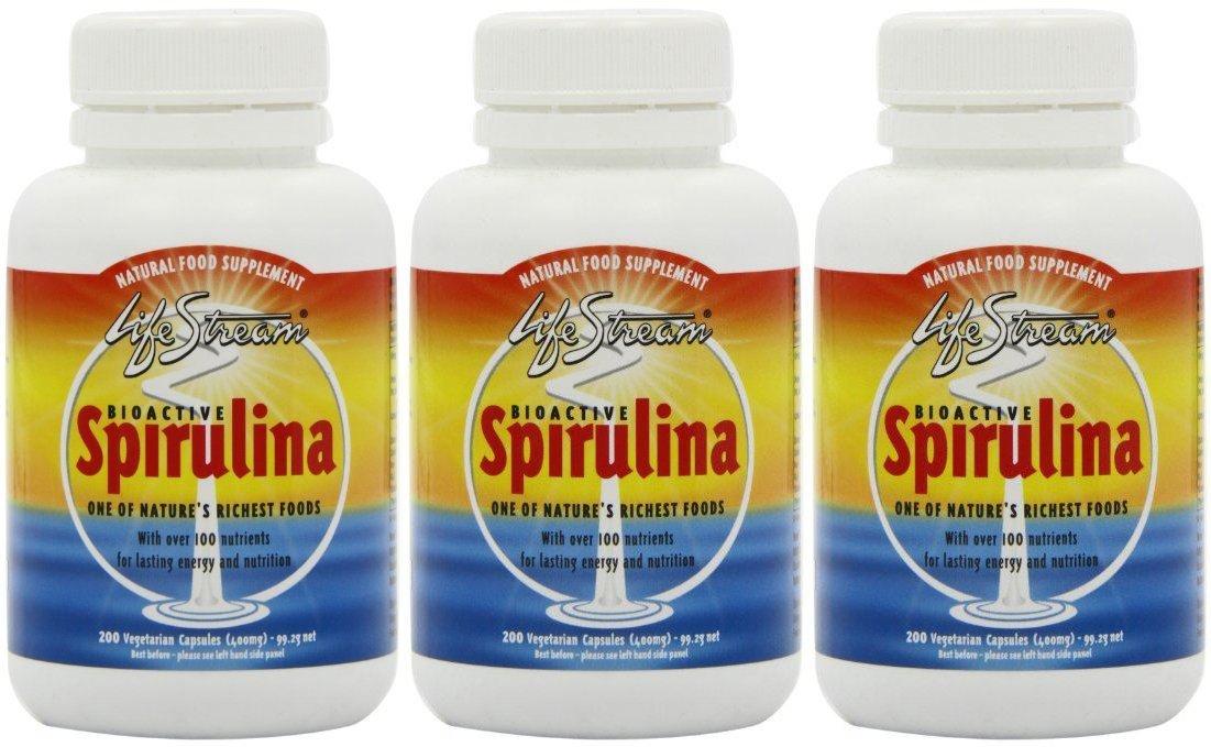 (3 PACK) - Lifestream Bioactive Spirulina 400Mg Capsules | 200s | 3 PACK - SUPER SAVER - SAVE MONEY