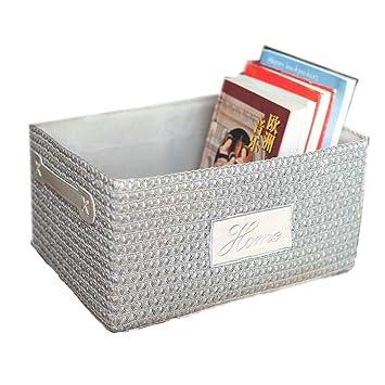 Amazon.com: Cesta de plástico tejida a mano, caja y embalaje ...
