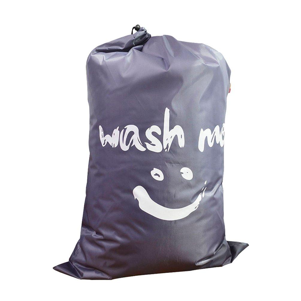 Dexinx Extra Grande Borsa Portaoggetti in Tela Resistente con Chiusura a Cordoncino Chic Laundry Wash Bag Blu 61*92cm