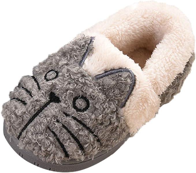 Baby Infant Girl Boy Winter Home Slippers Cartoon Warm Indoor Floor Shoes 10Year