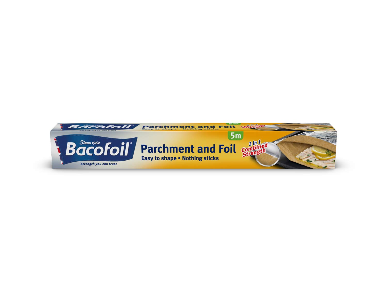 Bacofoil 2-in-1 Foil and Parchment Paper, 5m