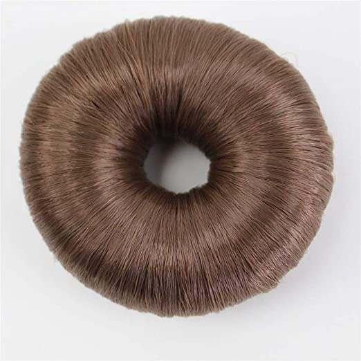 Donut Hot Women Fibra sintética Bollo de Pelo Donuts Anillo Peluca ...