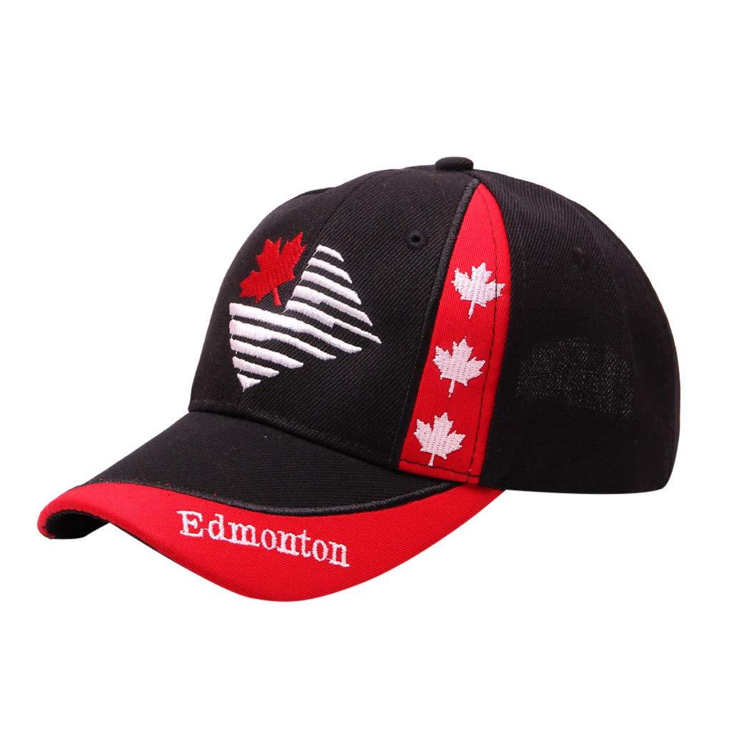Women Men Unisex Canadian Embroidered Flower Denim Cotton Cap Fashion Maple Leaf Baseball Caps (E, Head:52-58cm/22.0-23.6'') by Tanlo (Image #1)