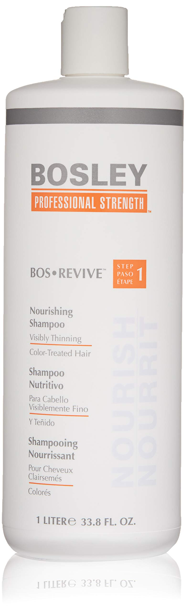 Bosley Bosley:bos-revive Nourishing Shampoo for Color-treated Hair 33.8oz, 33.8 Ounce by Bosley Professional Strength