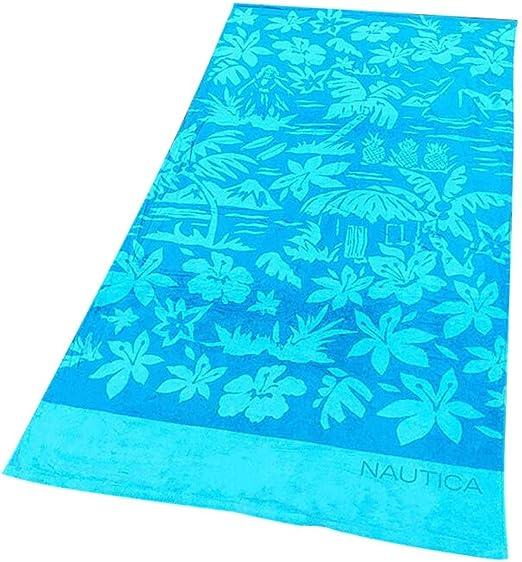 Liuxiaomiao Toalla de Playa Impresión Grande Azul Toalla Suave ...