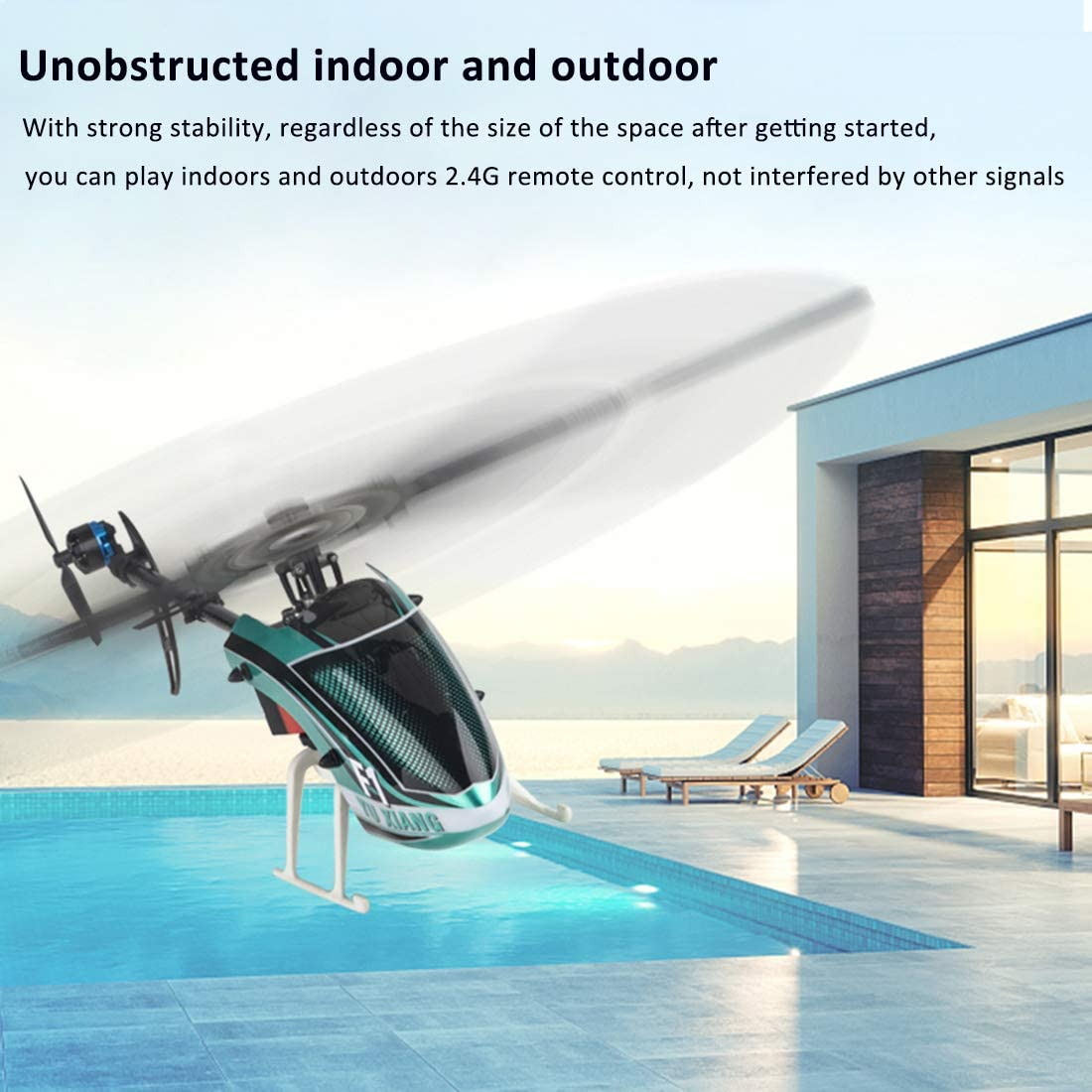 Trueornot RC Airplane 2.4G 6CH Electric Remote Control Rotor Helicopter with 6G Self-stabilized Flight Mode and 3D Stunt RTF