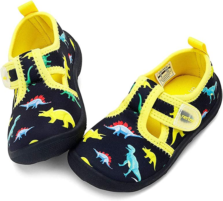 LOULAN Boys Girls Water Shoes Quick Dry Closed-Toe Aquatic Sport Sandals Kids Summer Beach Shoes for Toddler//Little Kid