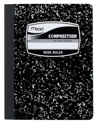 Wireless Composition Book, Wide/Margin Rule, 9-3/4 x 7-1/2, White, 100 Sheets (Pack of 12)