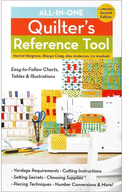 C/&T PUBLISHING AllInOneQuiltersRfrncToolUpdtd C/&T All-in-One Quilters Reference Tool 2nd Ed Bk
