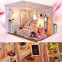 AWHAO ドールハウス DIYハウス 手作りハウスキット 組み立て LEDライト ミニチュア 手芸 かわいい プレゼント