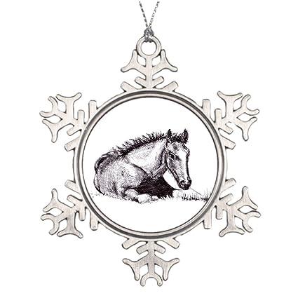 Christmas Horse Drawing.Amazon Com Tee Popo Xmas Trees Decorated Racing Horse