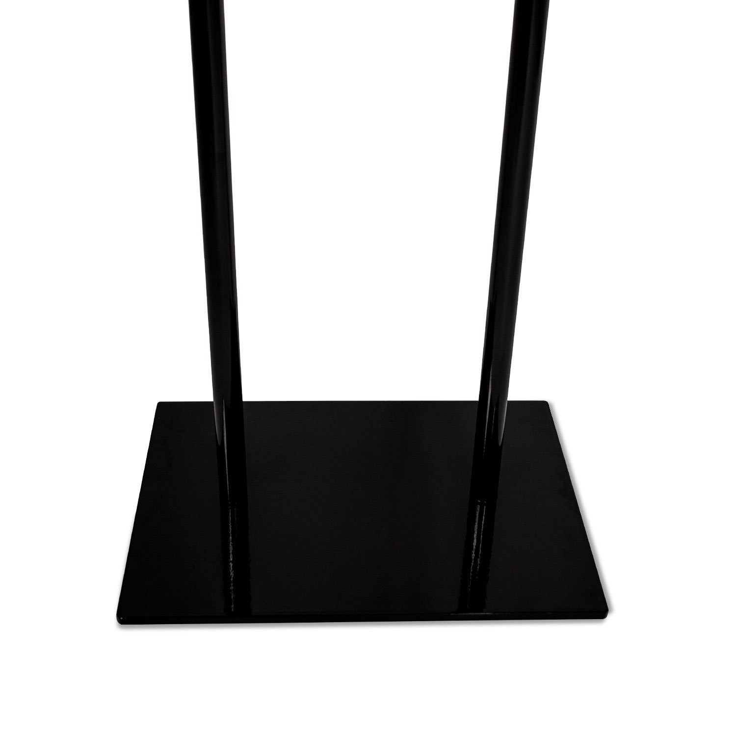 Source One Deluxe 22 x 28, 11 x 17, 8 1/2 x 11 Inch Floor Standing Sign Holders Multiple Colors Black, White & Gray Heavy Duty Weighted Metal (22 x 28 Inch, Black) by SOURCEONE.ORG (Image #2)