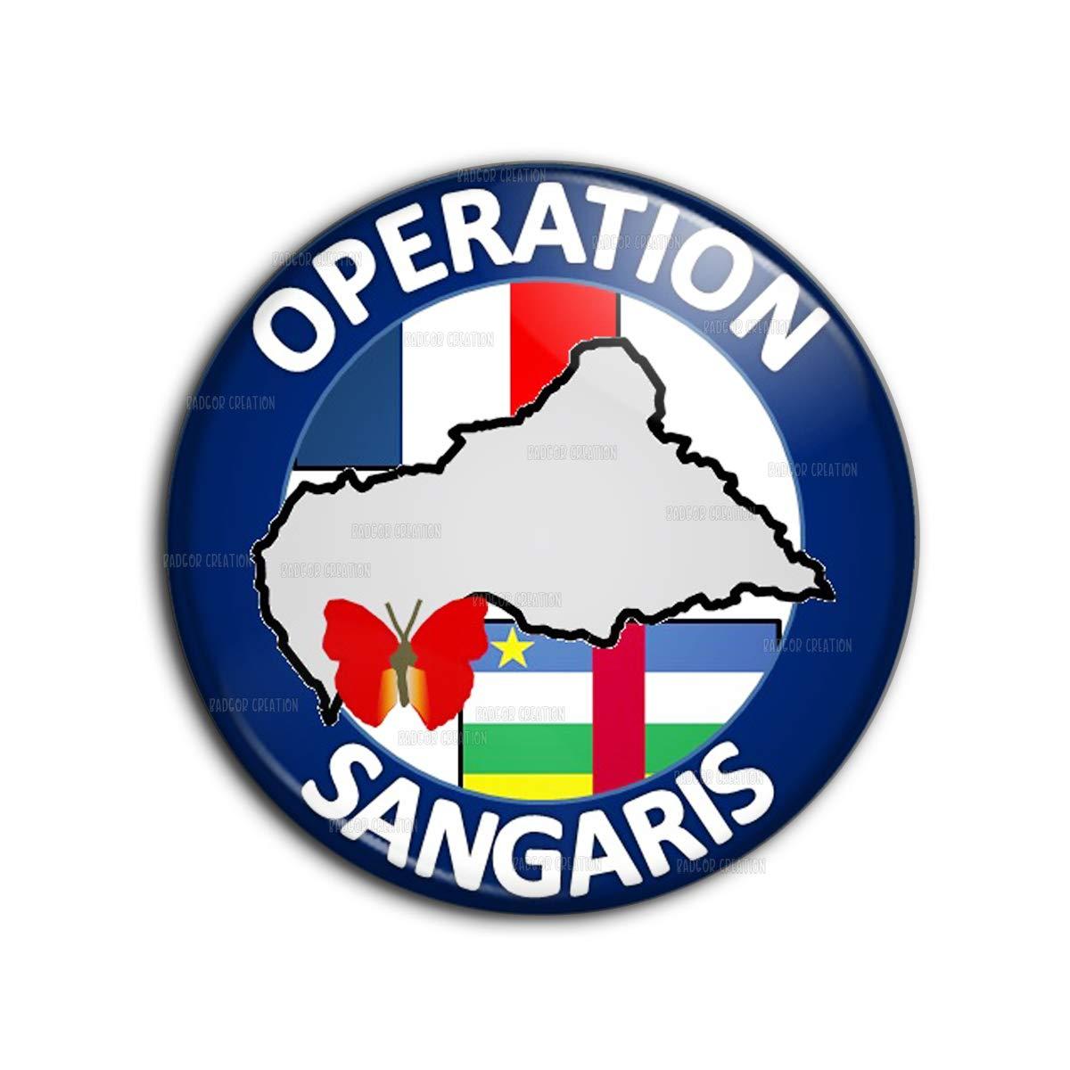 Badge 38mm Bouton Epinglette Opération Sangaris République Centrafricaine - Armée Francaise