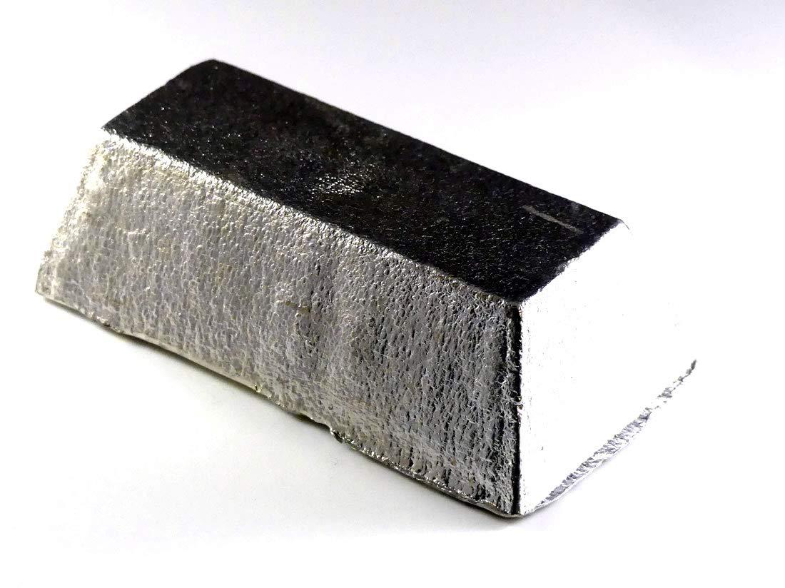 Tin Ingot (4 pounds   99.9+% Pure) Raw Tin Metal by MS MetalShipper