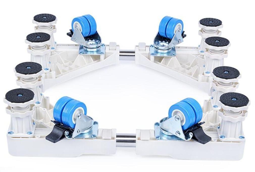 XIAOMEIXI Supporti per carrelli mobili da ruote Base regolabile per asciugatrice, lavatrice e frigorifero