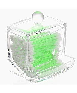 Beito Cotton fioc Holder/Cotone Annuncio Dispenser/Cosmetici Cotton Buds/tamponi di Cotone Palle Q-Tip con Acrilico Trasparente Holder Trucco Storage Box Organizzatore, usheng