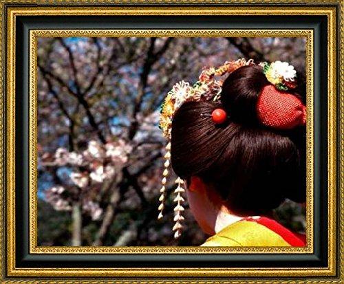 framed-canvas-print-wall-art-japan-kyoto-geishas-head-on-philosophers-path-by-nancy-steve-ross-15-x-