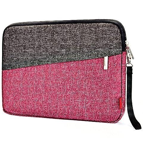 NiceEbag 13.3 Inch Laptop Sleeve Case Slim Protective Bag Water-Resistant Cover For Notebook / Macbook / Surface / Chromebook / Ultrabook - - Pink Laptop Tote