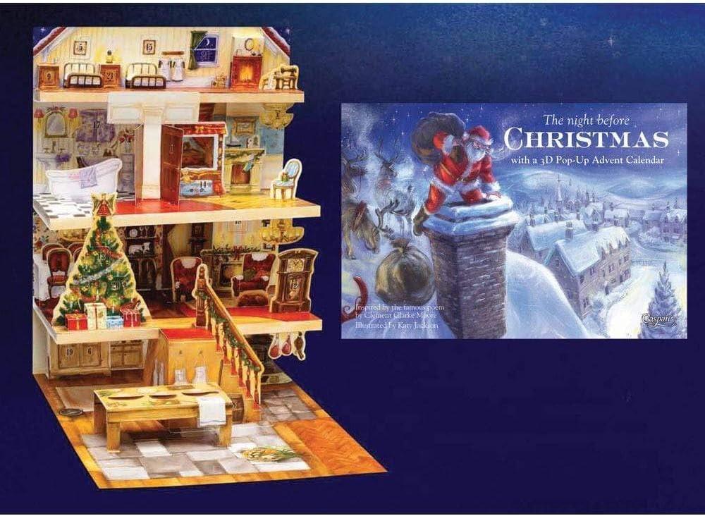 1 Each Caspari Nativity 3D Advent Calendar Pop-Up Book