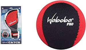 Waboba Ambidextrous Catch with Pro Ball, One Size & Pro Water Bouncing Ball (Colors May Vary)